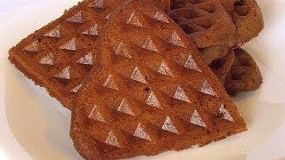 Шоколадные Хрустящие Вафли кулинарный видео рецепт(Один из тех рецептов, в которых, используя одни и те же продукты и тот же самый способ приготовления, можно..., 2014-04-16T11:44:56.000Z)