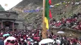 Tawang,.H.E 14th Thegtse Rinpoche at Guru meditation cave.during reciting 100 mill..Guru mantra,