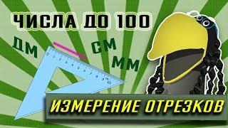 2 КЛАСС// МАТЕМАТИКА// ЧИСЛА ДО 100 // МЕРЫ ДЛИНЫ // Измерение отрезков в сантиметрах и миллиметрах