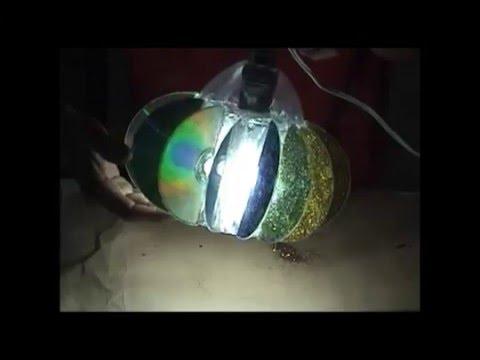 L mpara de techo con cds reciclados youtube - Como hacer una lampara de techo ...