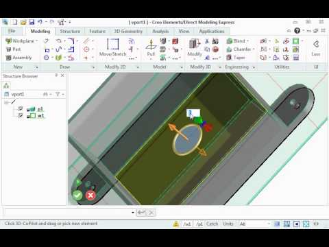 ptc creo elements direct modeling express 6.0 tutorial