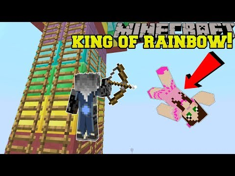 Minecraft: RAINBOW KING OF THE LADDER! - HEAD HUNTER THEME PARK [3]