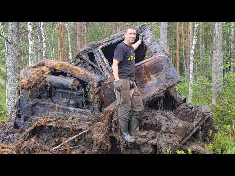 Подъем трактора ДТ 75 из болота.