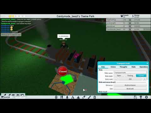"""How to achive """"Public Transport!"""" Mission in ROBLOX Theme Park Tycoon"""