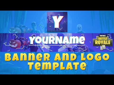 fortnite banner logo template photoshop youtube