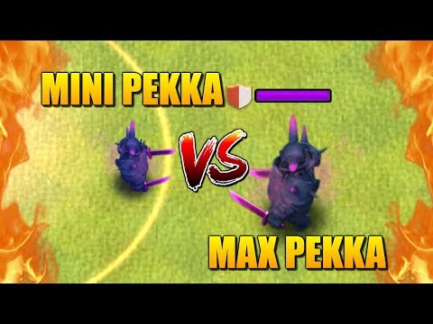 MINI PEKKA Vs PEKKA - Shrink Trap Gameplay - Clash Of Clans Battle! Who Will Win?