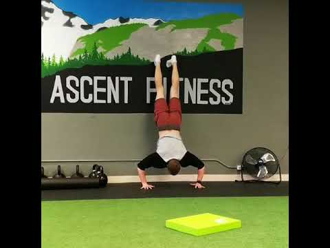 handstand push up on wall  youtube
