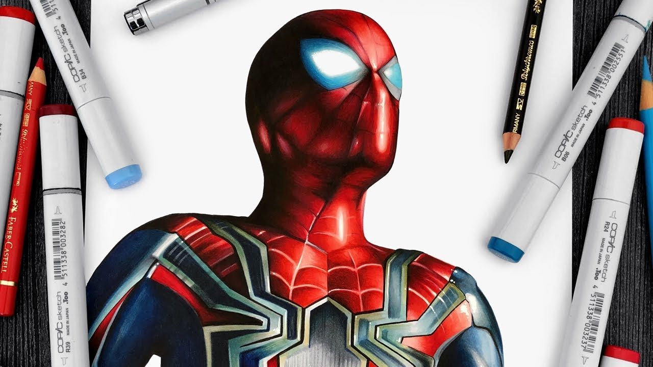 SpiderMan Drawing Avengers