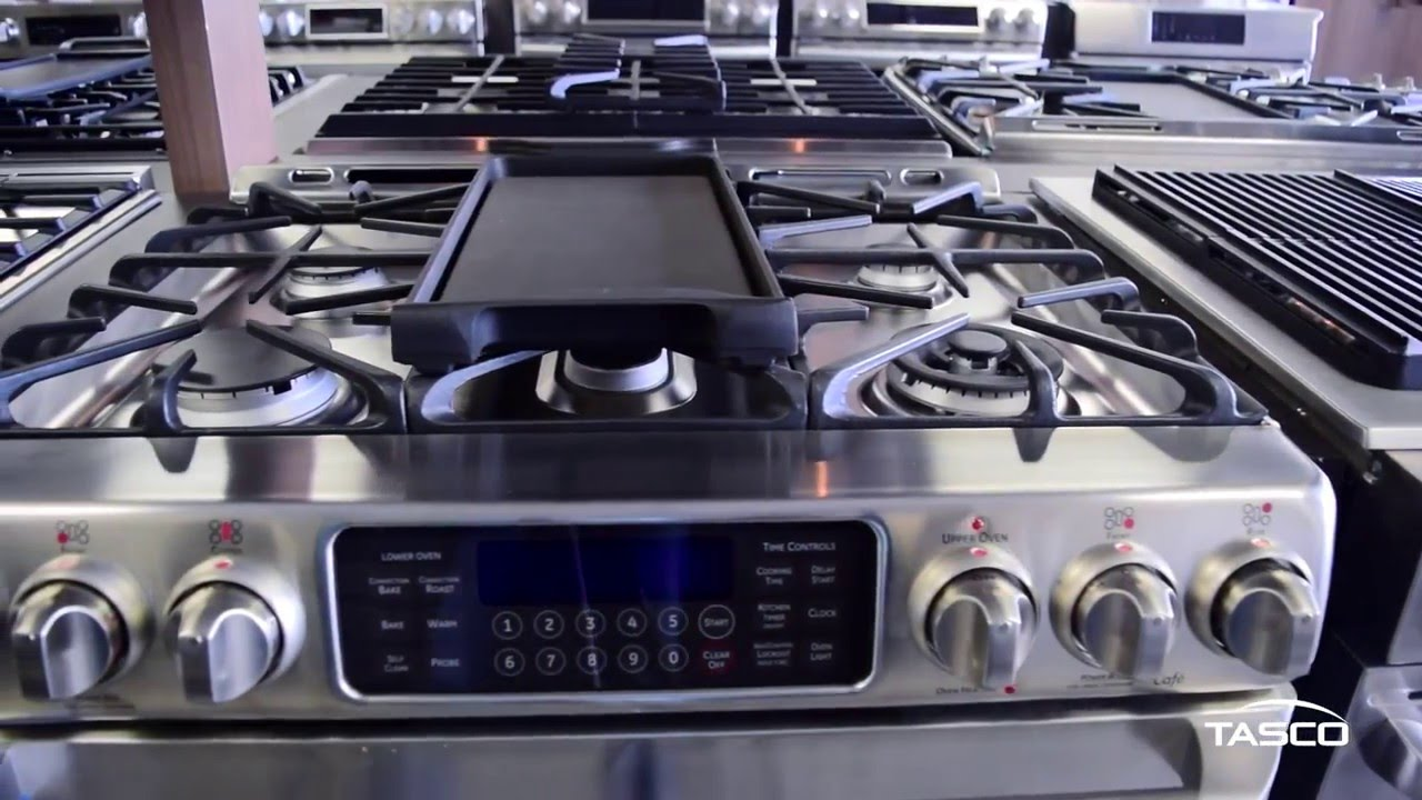 Ge Café 30 Inch Freestanding Double Oven Gas Range Ccgs990setss Tasco Product Showcase
