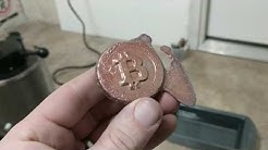 Making a Physical Bitcoin - Copper Casting