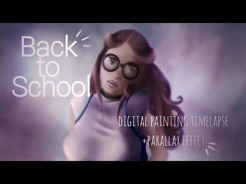 Back to School | Digital Painting Timelapse