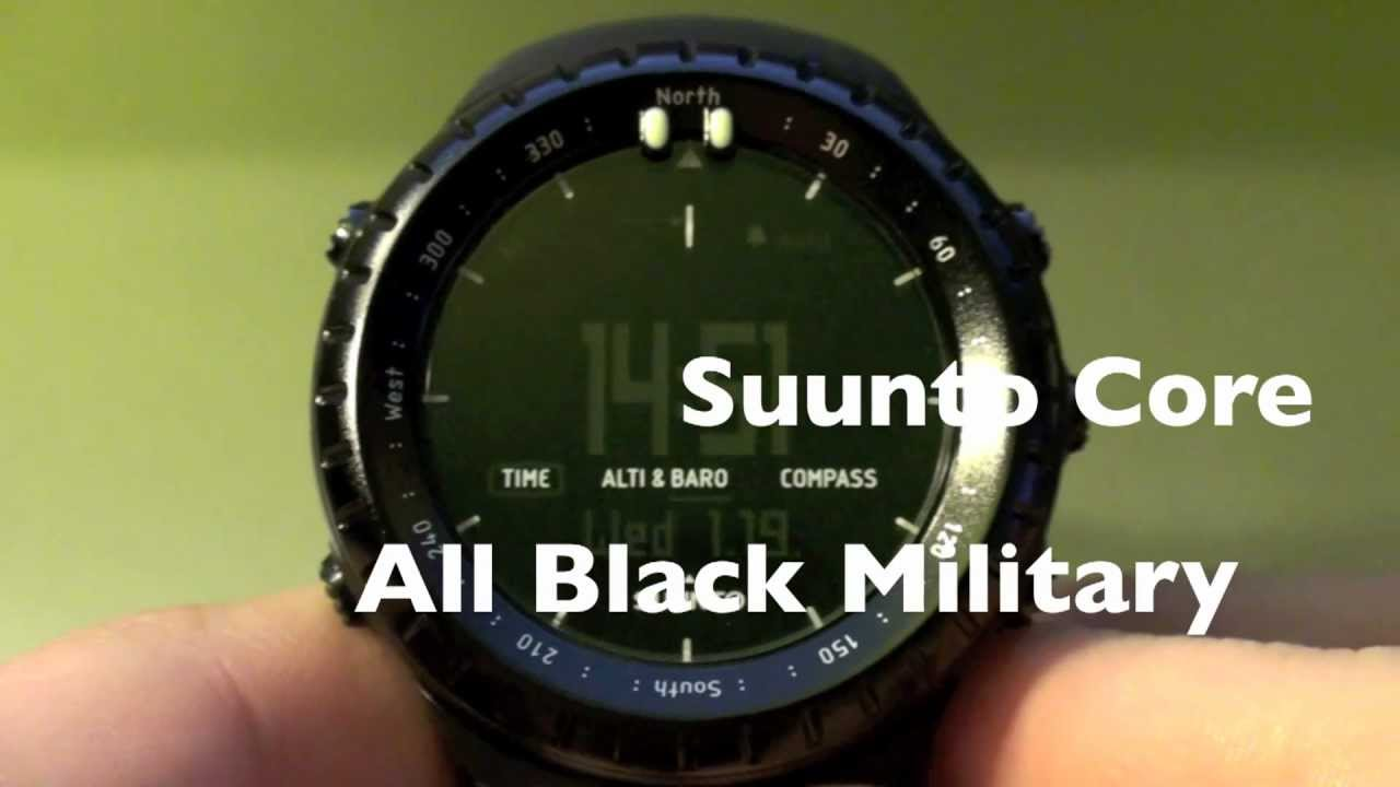 Suunto Core All Black Military Review Part 1 Youtube Ultimate