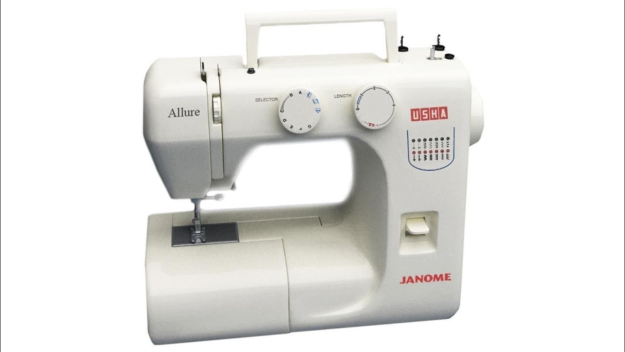 usha janome allure automatic sewing machine youtube rh youtube com usha allure sewing machine user manual usha flora sewing machine user manual