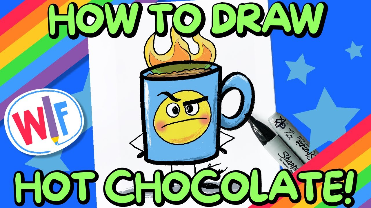 How To Draw Hot Chocolate!