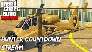 "XB1 GTA 5 ONLINE DLC ""Hunter"" Helicopter GAMEPLAY STREAM (GTA 5 Hunter gameplay)"