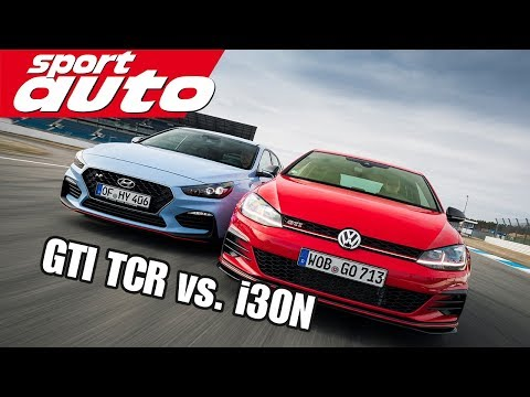 VW Golf GTI TCR vs. Hyundai i30N Performance | Hot Hatch Battle | sport auto