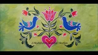 Acrylic Painting Folk Art Birds Inspired by Pantone