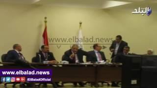 انقطاع التيار الكهربائي عن مؤتمر وزير التعليم ببني سويف .. فيديو