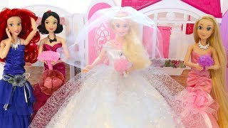 Barbie Rapunzel Wedding Dress Shop Barbie Doll Shopping