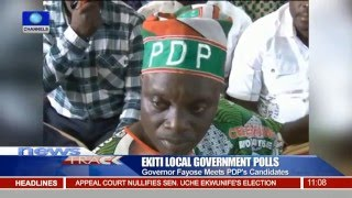 Governor Fayose Meets PDP Candidates Ahead Of Local Election 08/12/15