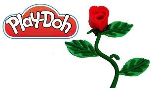 Como Hacer Una Rosa con Plastilina Play Doh  FunKeep