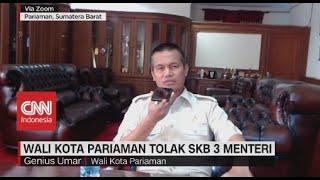 Wali Kota Pariaman Tolak SKB 3 Menteri