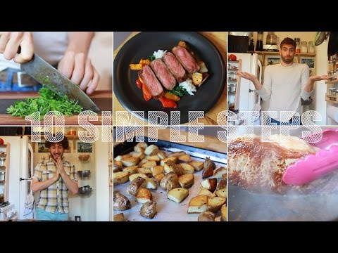 This Video Features Ten Simple Tips to Improve Your Kitchen Skills