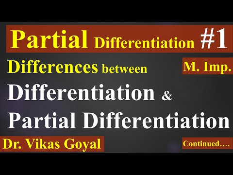 Partial Differentiation #1 in Hindi (V.imp)