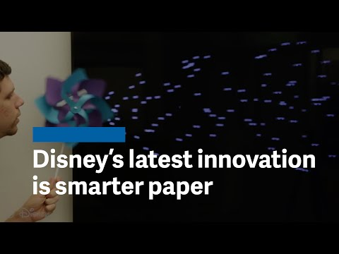 """Disney's latest science innovation is """"smart"""" paper"""