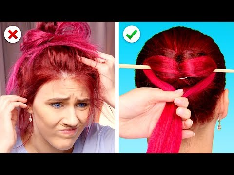 Last Minute Hairstyle Fix! DIY Hair Hacks for Busy Girls thumbnail