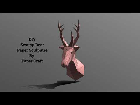 DIY SWAMP DEER upcoming paper sculpture by paper caft