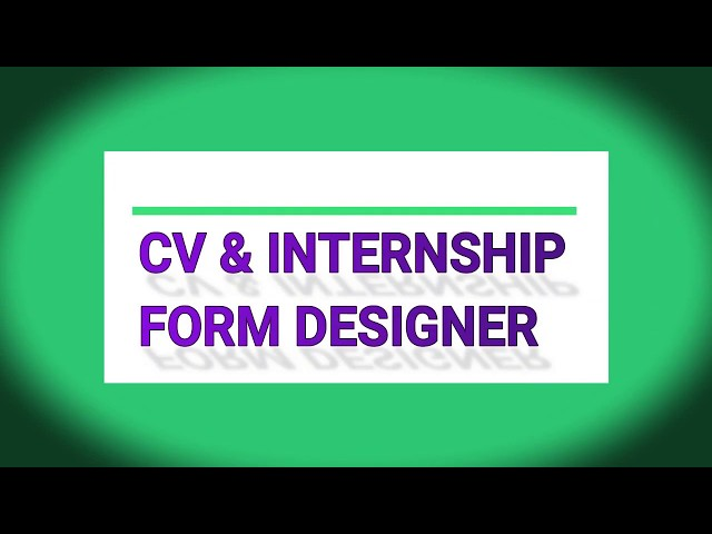 Project: Automated CV Writing and Internship Form Designing System supervised by Engr. #HammadShahab