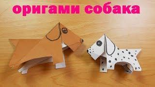 Оригами собака / Собака из бумаги / origami dog