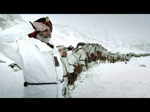 Indian National Anthem (Instrumental) ft. Indian Army at Siachen Glacier (HD)