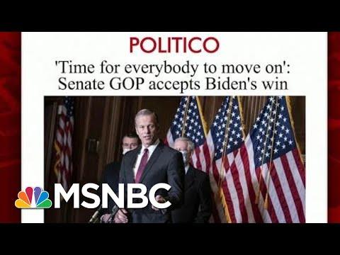 More Republicans Senators Acknowledge Biden's Win | Morning Joe | MSNBC