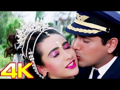 Yaad Sataye Teri Neend Churaye | Raja Babu Romantic Song in 4K Ultra HD | Govinda | Karisma Kapoor