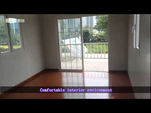 china prefab house prefabricated house portable home beach house Miners room import and export.mp4
