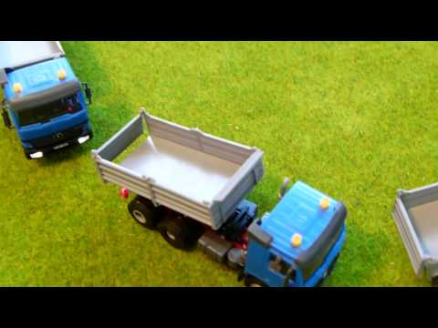BEST MODEL TRAIN PRODUCTS Viessmann 24071 Mercedes Benz Actros Dump Truck – Functional HO Model