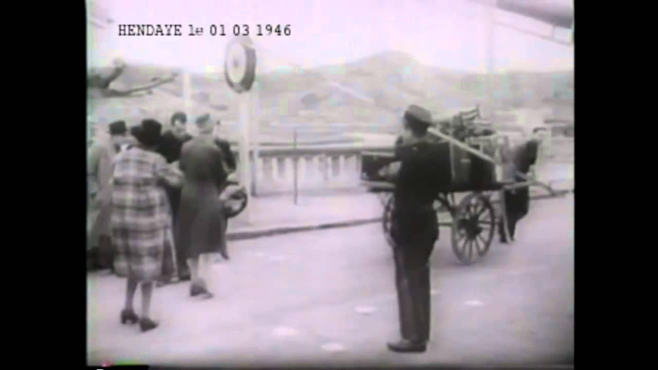 Pays Basque Hendaye film d'archive 1940