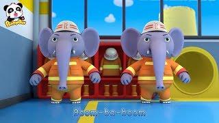 Los Bomberos Elefantes | Canciones Infantiles | Canciones de Bomberos | BabyBus Español thumbnail