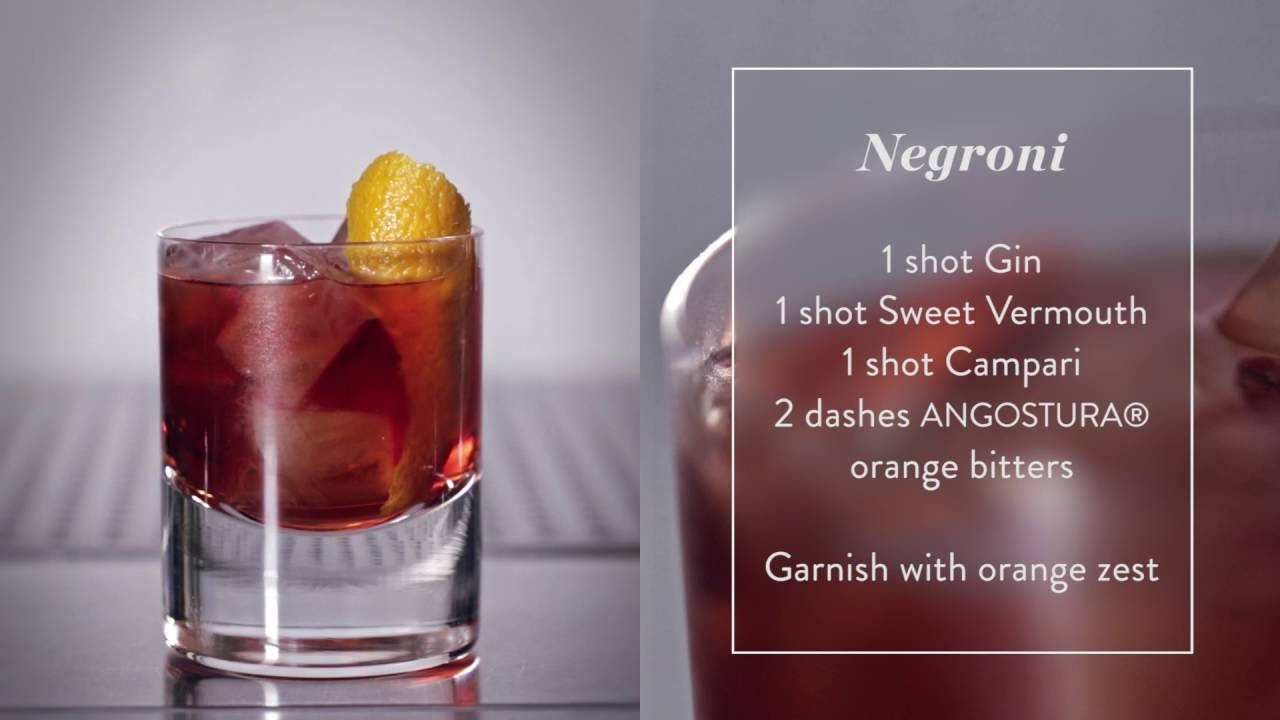 How to Make a Negroni - Cocktail recipe Presented by the House of Angostura