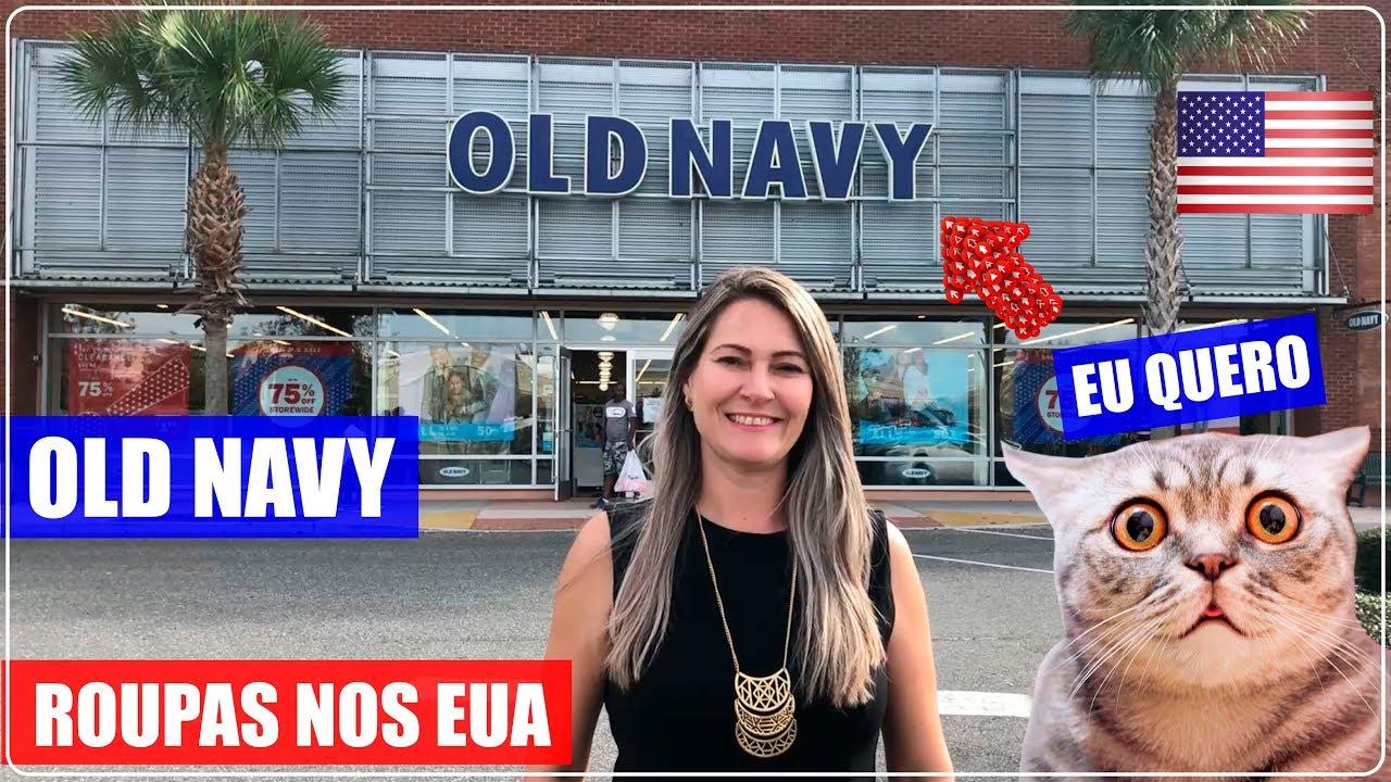 88f0579d0e2 OLD NAVY loja de ROUPAS nos EUA com PREÇOS IRRESISTÍVEIS - YouTube
