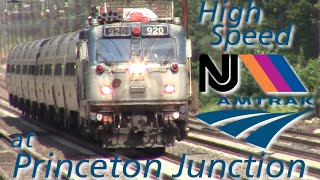 High Speed Amtrak and NJT Trains with Great Catches at Princeton Junction