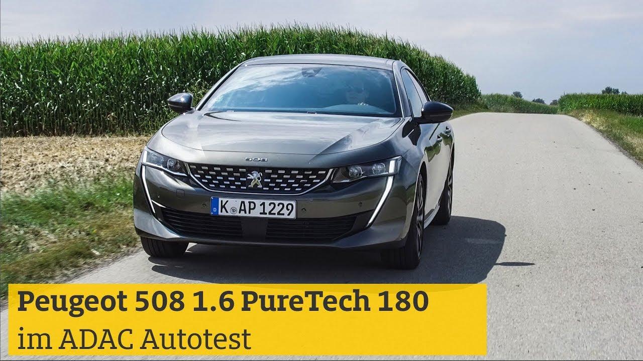 autotest: peugeot 508 1.6 puretech 180 | adac - youtube