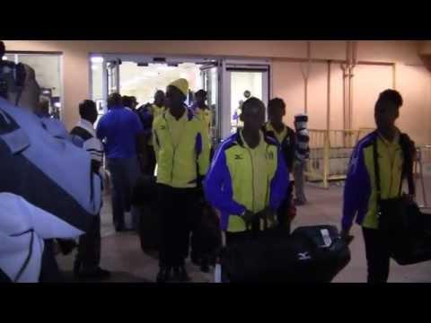 Barbados Carifta Team Arrives In Bermuda Apr 4 2012