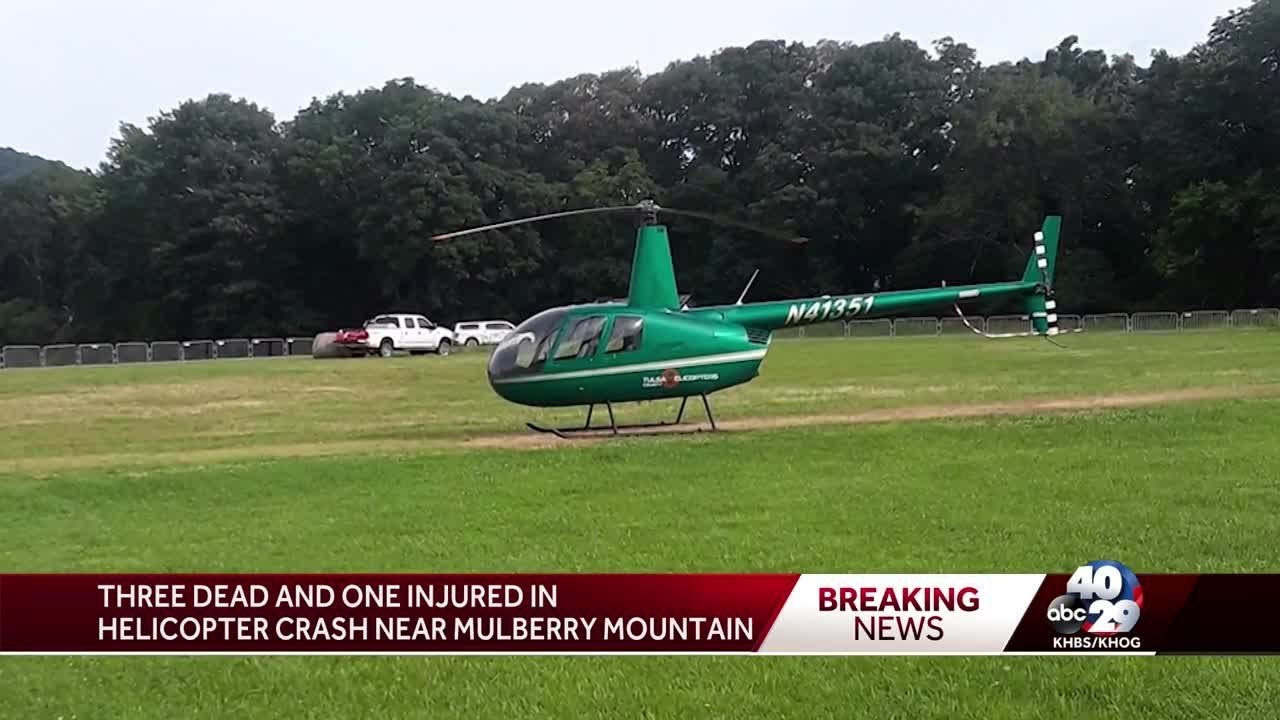 Three dead and one injured in helicopter crash near Mulberry Mountain