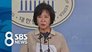 """손혜원 """"민주당 탈당·언론사 고소""""…지지층 겨냥한 회견 / SBS"""