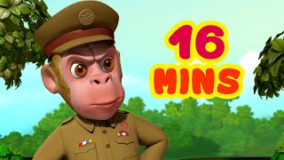 Download lagu Bandar Mama Ban Gaye Jungle Ke Police and More Bandar Mama Songs | Hindi Rhymes | Infobells