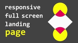 Create Responsive Full Screen Landing Page