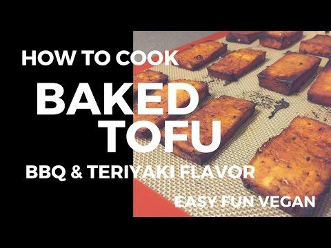 HOW TO MAKE BAKED TOFU (EASY ASIAN VEGAN) BBQ & TERIYAKI FLAVOR